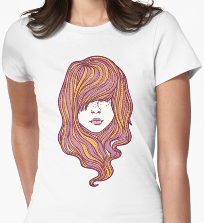 Her hair Womens Fitted T-Shirt