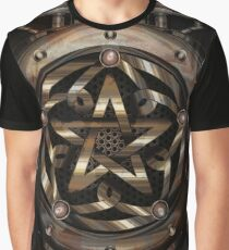 Steampunk Pentacle Graphic T-Shirt