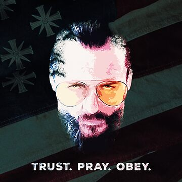 """Trust. Pray. Obey."" Tapestry - Far Cry 5  by IAmKev"