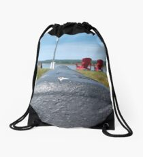 Named soft cannon. A real cannon Drawstring Bag