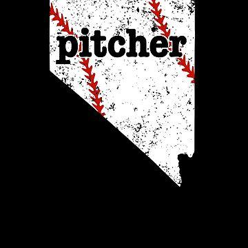 Best Baseball Pitcher Nevada Softball Pitchers Shirt by shoppzee