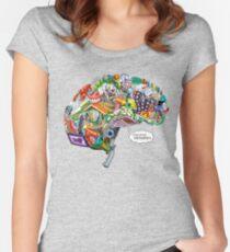 Pixelated Memories Women's Fitted Scoop T-Shirt