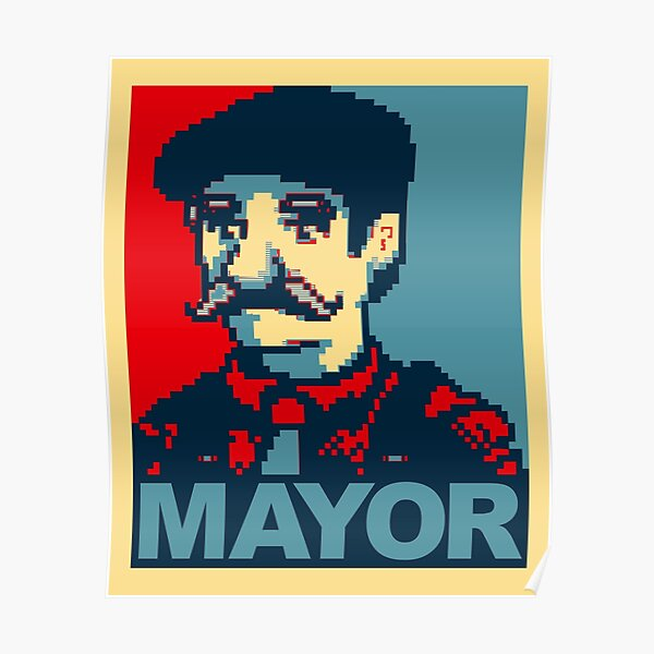 Lewis For Mayor - Stardew Valley inspired campaign shirt Poster