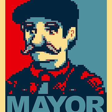 Lewis For Mayor - Stardew Valley inspired campaign shirt by freshcoffee