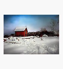 """ Red Shelter "" Photographic Print"