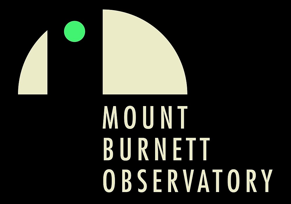 MBO Logo (dark background) by Mount Burnett Observatory