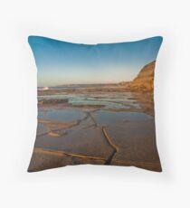 Blue reflections of Bar Beach Throw Pillow