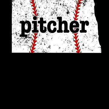 Youth Baseball Pitcher North Dakota Fast Pitch Softball by shoppzee