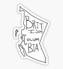 British Columbia - Text Sticker