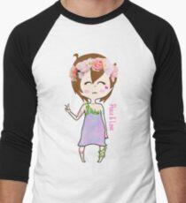 Flower Plur Girl Men's Baseball ¾ T-Shirt