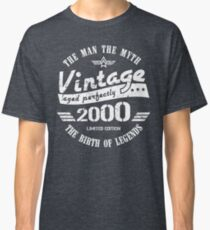 Vintage 2000 - 18th Birthday Gift For Men Classic T-Shirt