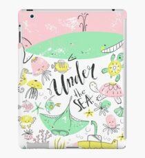 Under the sea. Ocean animals, scandinavian style iPad Case/Skin