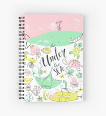 Under the sea. Ocean animals, scandinavian style Spiral Notebook