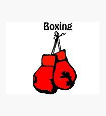 guantes de boxeo dibujo láminas fotográficas redbubble