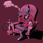 Creature smoking a shisha by Maurice Campobasso