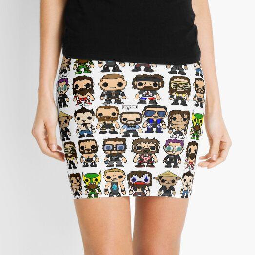 QWA Vinyl Pop-fighters Mini Skirt