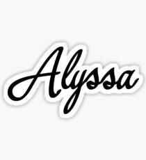 Alyssa Sticker
