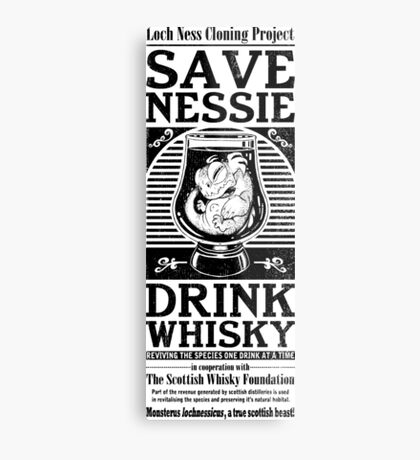 Save Nessie, Drink Whisky! Metal Print