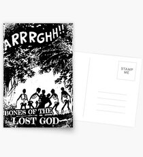 Arrrghh!! a BONES of the LOST GOD t-shirt Postcards