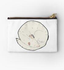 Curled Ferret - Albino Studio Pouch