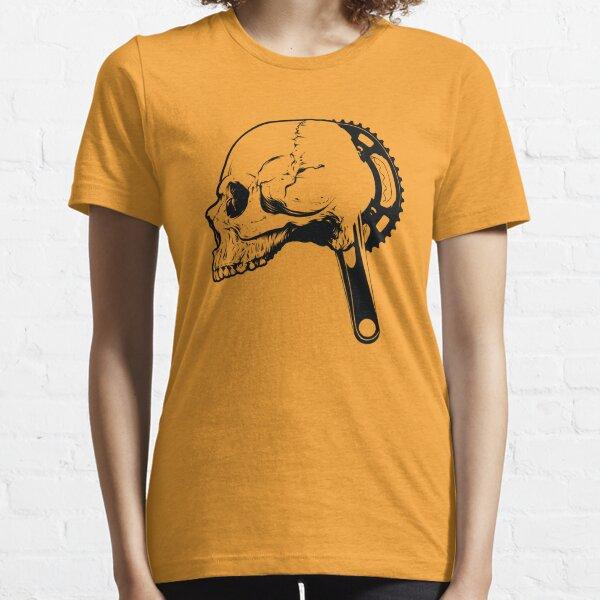 Bicycle Skull Shirt Graphic T-shirt With Skull Bike Crank Essential T-Shirt