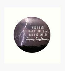 crying lightning Art Print