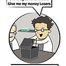 Schrodinger's cat. Funny Science illustration of Schrodinger experiment T-shirt by tillhunter