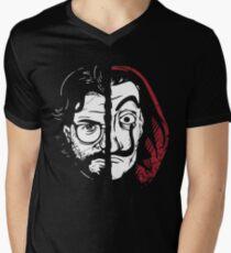 La Casa de Papel Profesor Men's V-Neck T-Shirt