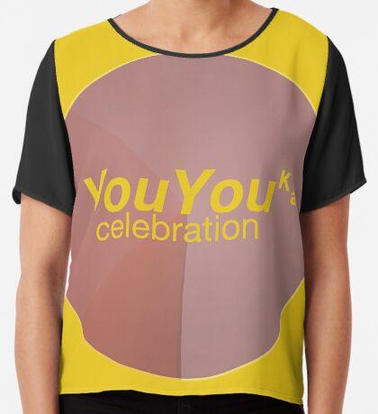 YouYouka Celebration © 2018 RootCat / MBSP-Glitternext WDC: copyartandrightandleft control Chiffon Top