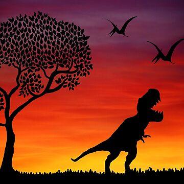 Prehistoric Dinosaurs by imphavok
