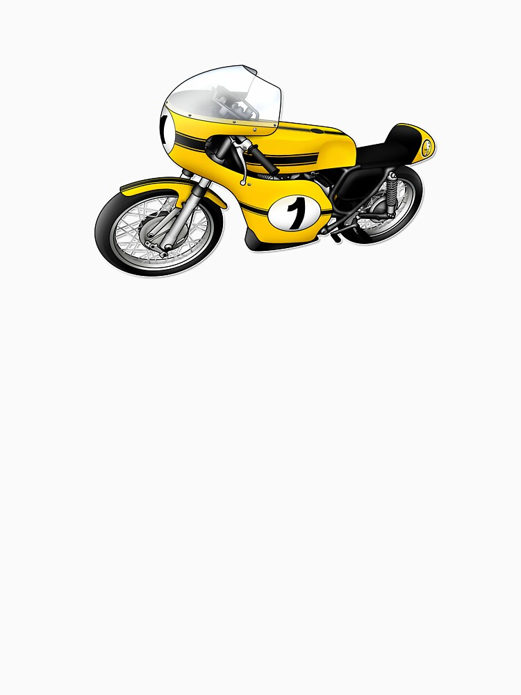 Motorcycle T-shirts Art: Yellow & black by yj8dsk57