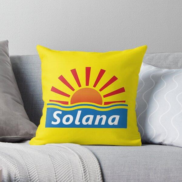 Benidorm - Solana Hotel Throw Pillow