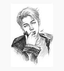 RM - pencil drawing Photographic Print