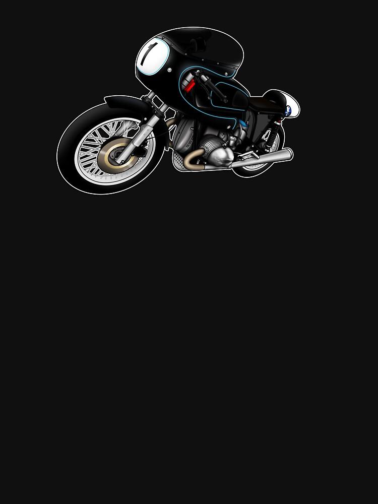 Motorcycle T-shirts Art: Black on Black by yj8dsk57