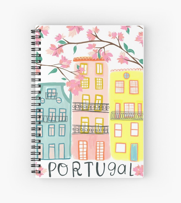 Pretty Portugal houses and flowers by shoshannahscrib