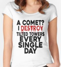 I destroy Tilted Towers Women's Fitted Scoop T-Shirt