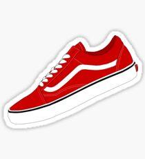 Vans - Red / White Sticker