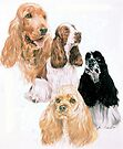 Cocker Spaniel, English and American by BarbBarcikKeith