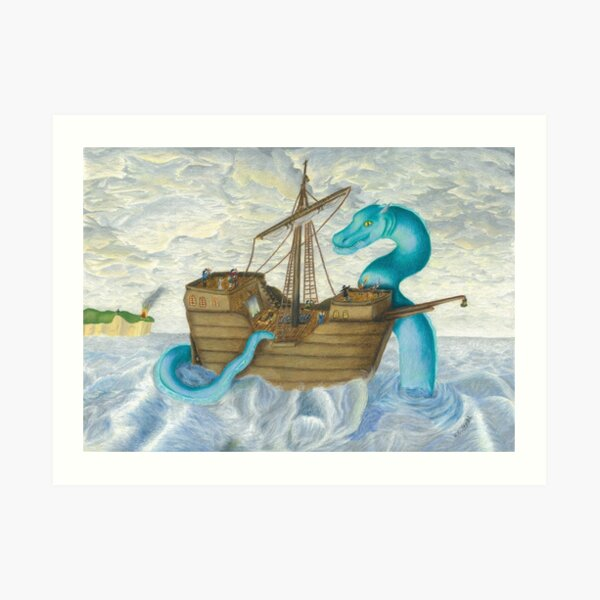 At the Mercy of the Sea Serpent Art Print