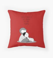 Easy To Be Happy Throw Pillow