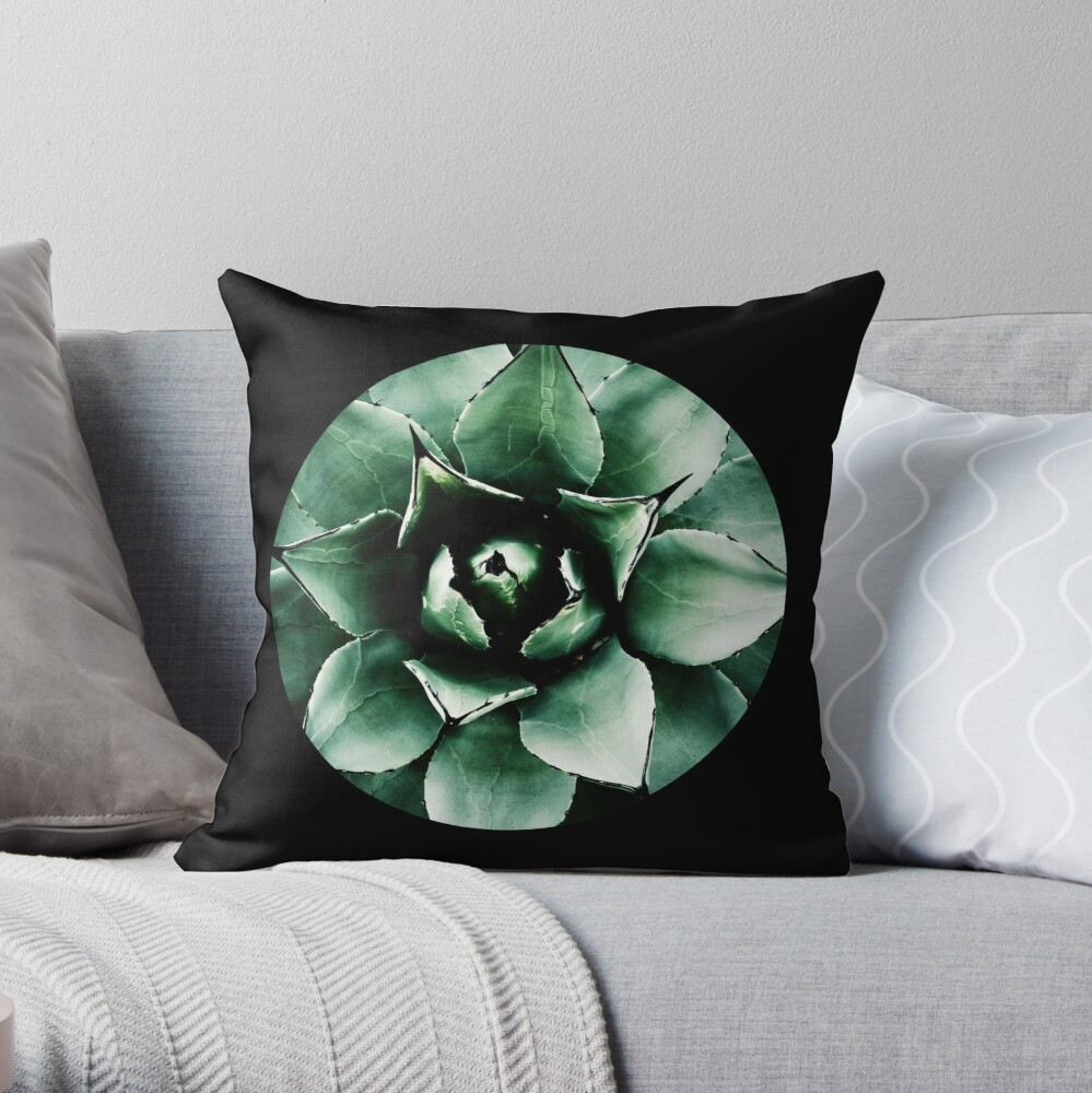 Agave Parryi (Tequila Agave) Throw Pillow