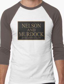 NELSON AND MURDOCK AVOCADOS AT LAW Men's Baseball ¾ T-Shirt