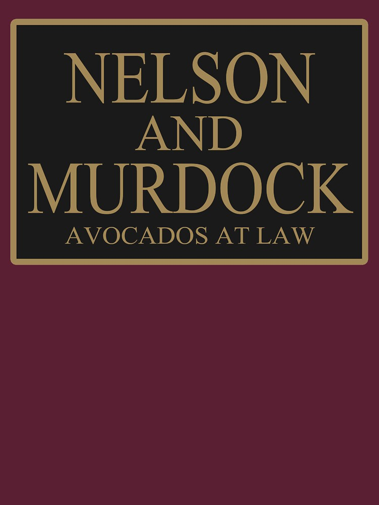 TShirtGifter presents: NELSON AND MURDOCK AVOCADOS AT LAW | Unisex T-Shirt
