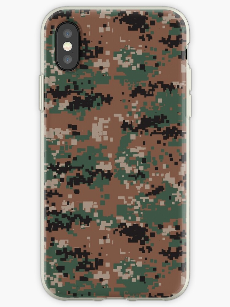 Digital Woodland Camouflage Phone Cases by Steve Crompton