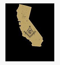 California Masonic Symbols T Shirt Freemason Shirt Photographic Print