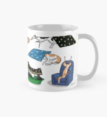 Greyhound Glossary: Bed Fail. A Redbubble exclusive design Mug