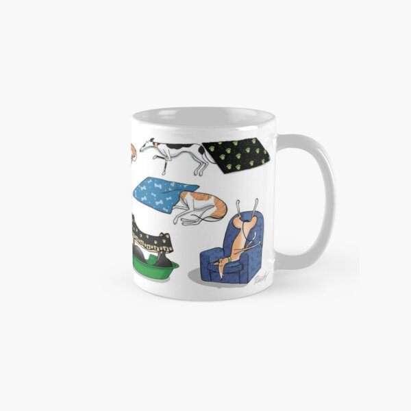 Greyhound Glossary: Bed Fail. A Redbubble exclusive design Classic Mug