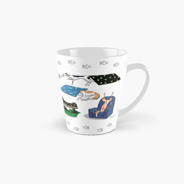 Greyhound Glossary: Bed Fail. A Redbubble exclusive design Tall Mug