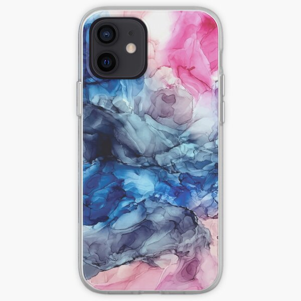 Soul Explosion - Original Abstract Fluid Art Painting iPhone Soft Case