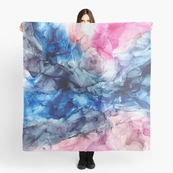 Soul Explosion - Original Abstract Fluid Art Painting Scarf